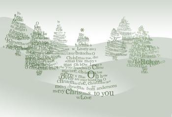 christmas tree scape