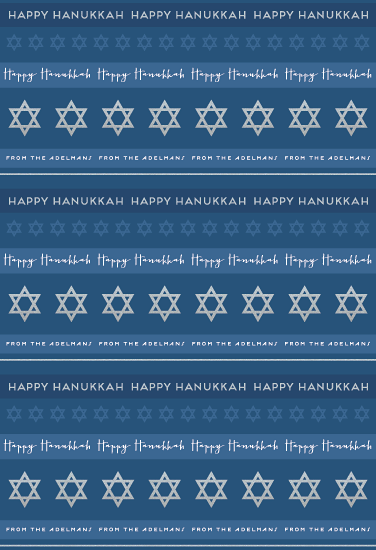 gift wrap - Hanukkah Stripes