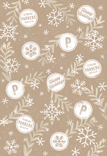 gift wrap - Snowflake and Stamp