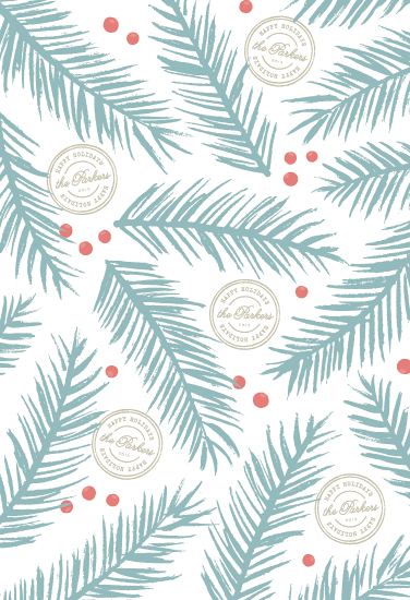 gift wrap - Blue Spruce