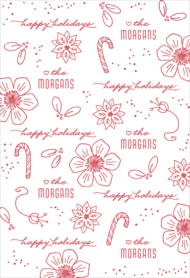 gift wrap - Holiday Line Art