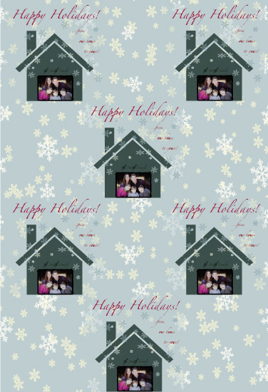 gift wrap - From our house to yours! by Matily Designs