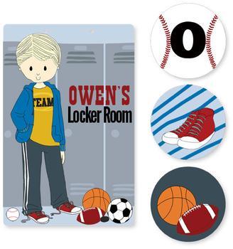 Locker Room Room Decor