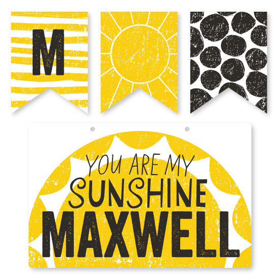 room decor - Polka-tot Sunshine by Muffin Grayson