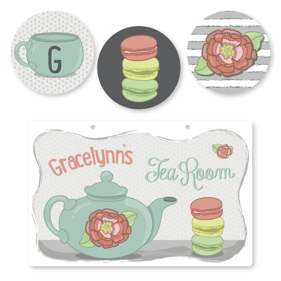 room decor - Tea Time by JoBeth Fink