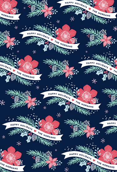 gift wrap - Festive Floral
