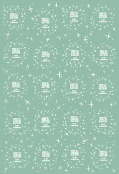 Sparkly Retro Stars with Custom Text
