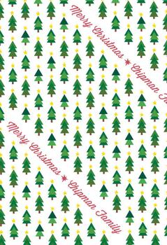 X-Mas Trees Gift Wrap