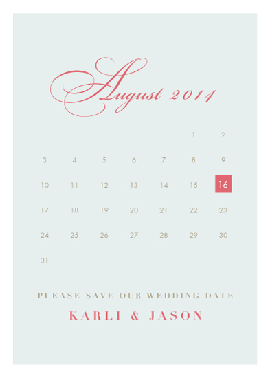 save the date cards - Sophisticated Calendar by Portia Monberg