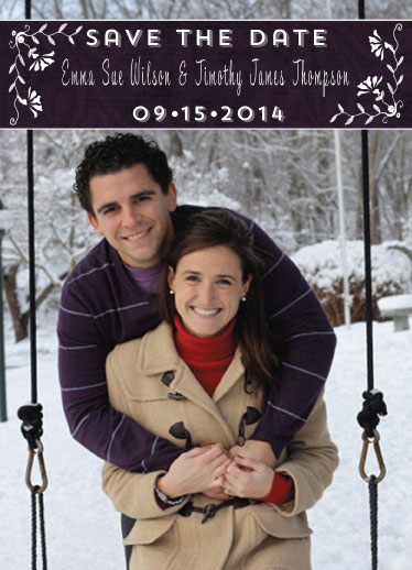 save the date cards - Plum Affair by Cindy Jost