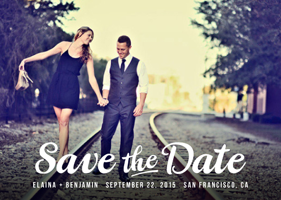save the date cards - Retro Script