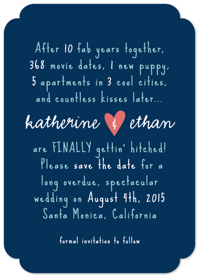 save the date cards - Finally Gettin' Hitched