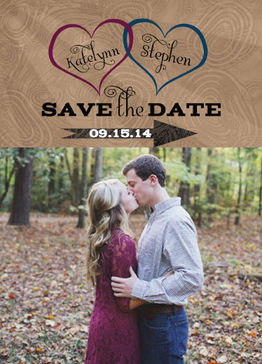 save the date cards - Carved in a Tree by Cindy Jost