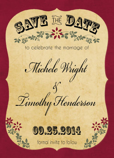 save the date cards - Vintage by Cindy Jost