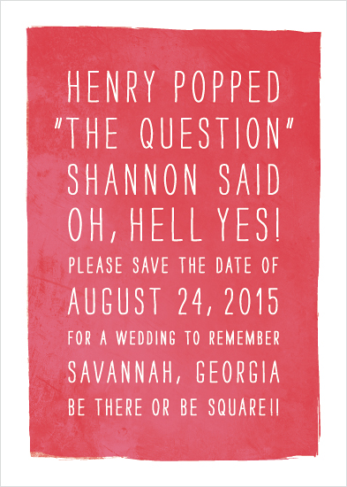 save the date cards - Yes!