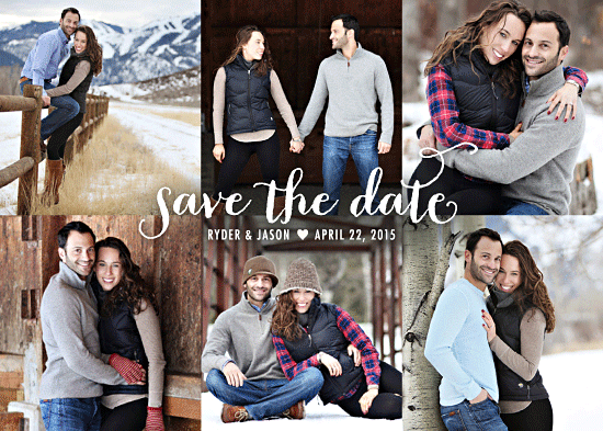 save the date cards - Photo Shoot