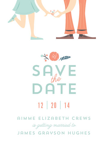 save the date cards - Put a Ring on It by Lori Wemple