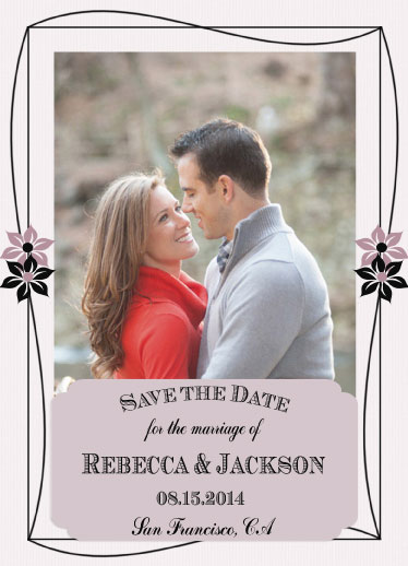 save the date cards - Felicity by Cindy Jost
