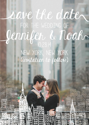 save the date cards - Love and a City by Jalapeño Paper Boutique