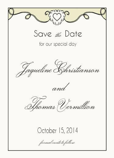 save the date cards - Blush by Cindy Jost