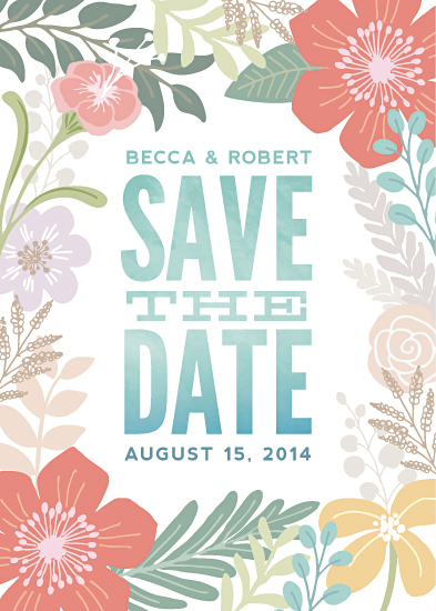 save the date cards - Tropical Love
