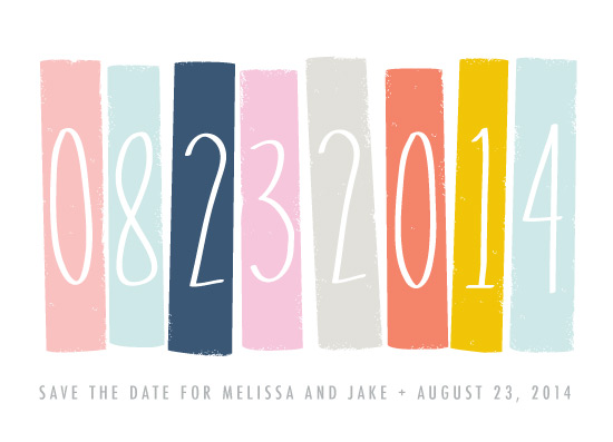 save the date cards - Color Blocking by Karidy Walker