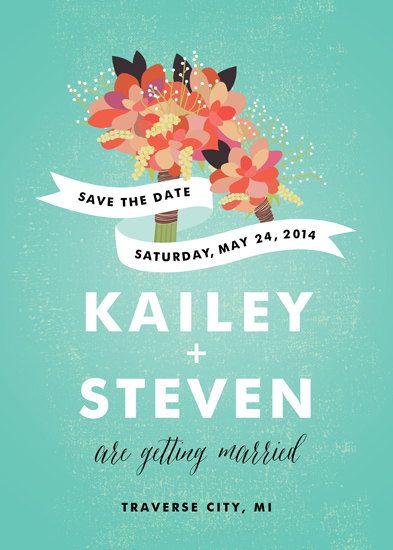 save the date cards - Bouquet and Boutonniere by Genna Cowsert