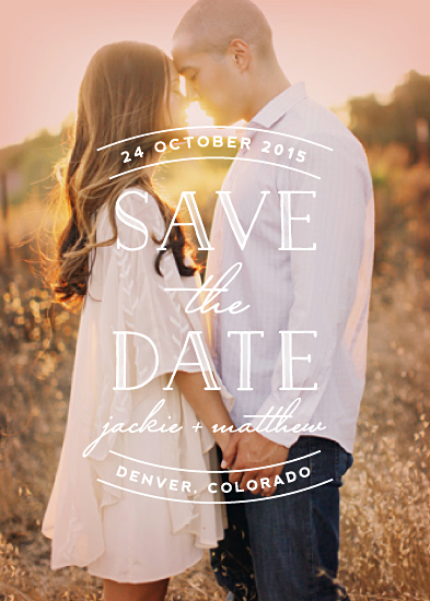 save the date cards - Sweet Embrace by Hooray Creative