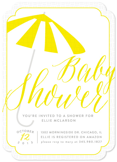 baby shower invitations - Umbrella's Up! by Ashley Hegarty