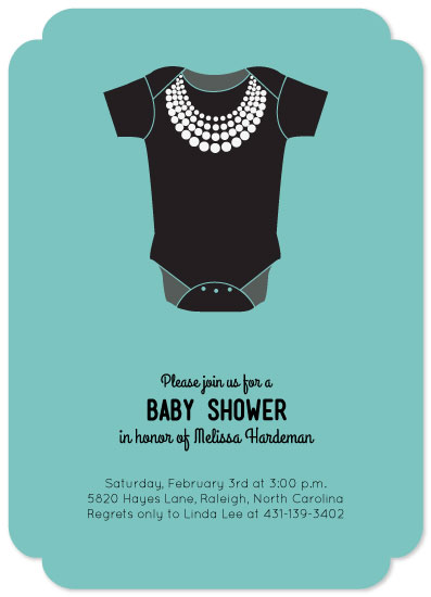 baby shower invitations - Breakfast at Tiffany's by Brittany Luiz