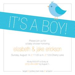 Birdy Baby Baby Shower Invitations