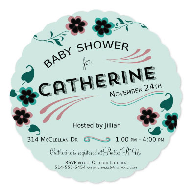 baby shower invitations - Floral Party by Cindy Jost