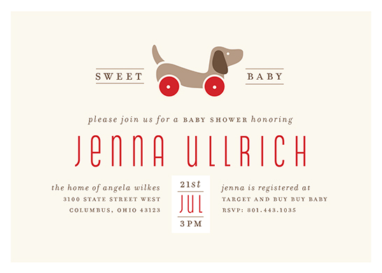 baby shower invitations - Toy Pup by Cheer Up Press
