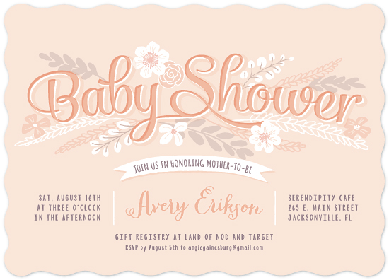 baby shower invitations - Sweet Garden Shower