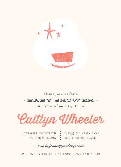 baby shower invitations - Mod Baby by Three Kisses Studio