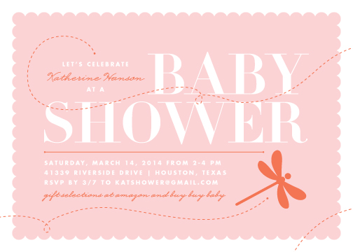 baby shower invitations dragonfly by lauren chism