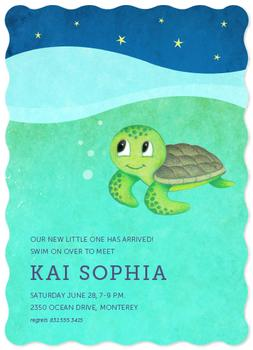 Sip & Sea Baby Shower Invitations
