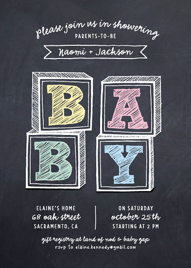 baby shower invitations - Baby Blocks