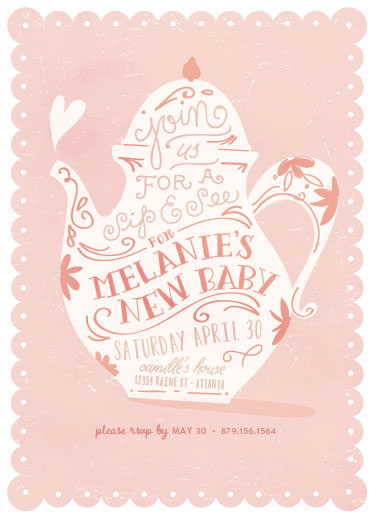 baby shower invitations - Sip & See by Lori Wemple