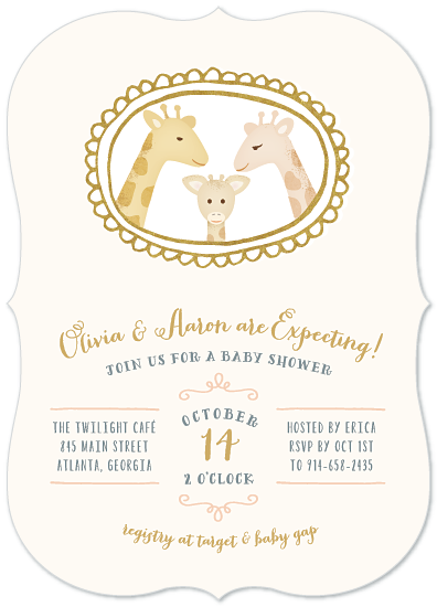 baby shower invitations - Giraffe Family Portrait