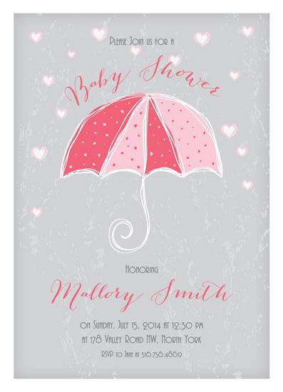baby shower invitations - Raining Hearts by Yvette Slaney