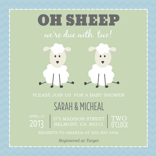 baby shower invitations oh sheep by chasity smith