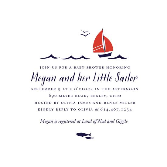 baby shower invitations - Little Sailor by Oscar & Emma