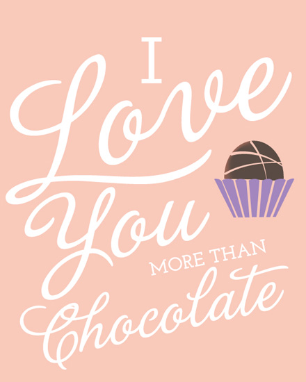 art prints - Love Chocolate by Laura Solie