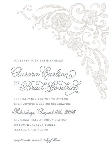 wedding invitations - Floral Embroidery