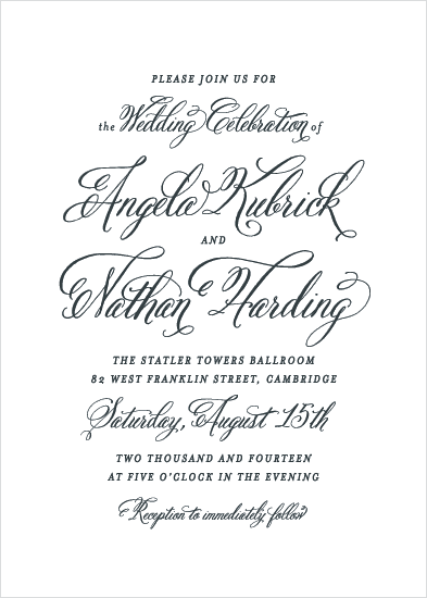 wedding invitations - Timeless Type