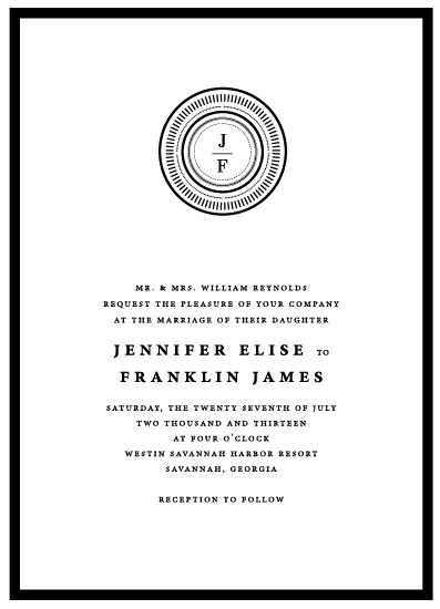 wedding invitations - Medallion by That Girl Press