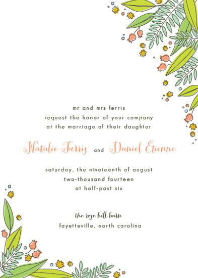 wedding invitations - Bouquet by 2birdstone
