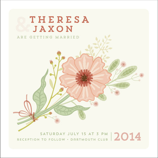 wedding invitations - Simple Bouquet by Danielle Hartgers