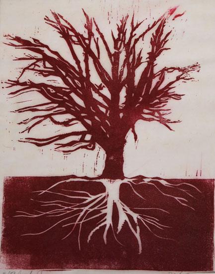 art prints - Red Tree #1 by jack jones